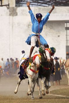 Sikh warriors show off their skills during Mohalla - PhotoBlog
