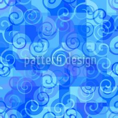 At The Sea designed by Sergio Delunardo available on patterndesigns.com Summer Feeling, Vector Pattern, Surface Design, Neon Signs, Sea, Pure Products, Patterns, Block Prints, The Ocean