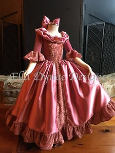Belle Pink & Red Dress Disney Inspired from Beauty and the