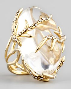 2013 SPRING TRENDS : APPARENTLY TRANSPARENT: Ophelia Vine Ring, Clear by Alexis Bittar at Bergdorf Goodman.