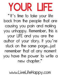 Love that I have the opportunity to write a new chapter in my life!