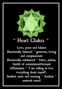 Heart Chakra - Pinned by The Mystic's Emporium on Etsy