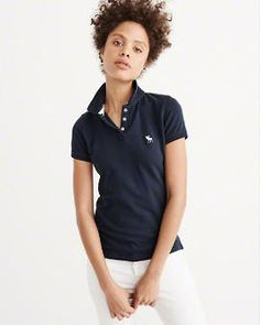 dbc1a034b6461 Womens Icon Polo | Womens Tops | Abercrombie.com All American Clothing,  Navy Women