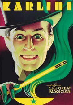 Karlini the Great - vintage magic poster on vintage-poster-market.com