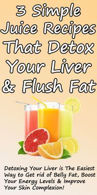 3 Simple Recipes for detox and fat flush