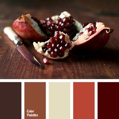 beige, bole, brown shades, burgundy, chocolate, color matching in interior, color solution for home, orange-red, pomegranate, pomegranate grains, pomegranate shades, shades of brown.