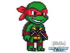 Teenage Mutant Ninja Turtles Perler Bead Sprite Figure (Chibishou 3) · Geek Mythology · Perler Bead Sprites and Geekery