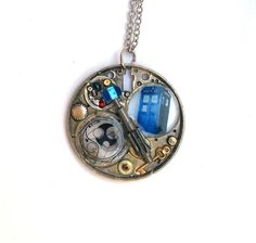 Doctor Who Necklace Gallifreyan Steampunk by TimeMachineJewelry