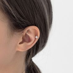 Shop our great range of minimalist stacking earrings and hoop ear piercings. These cartilage ear piercings are also ideal for upper lobe as well as helix, tragus, conch, rook, snug. Double Earrings, Crystal Earrings, Diamond Earrings, Cartilage Earrings, Stud Earrings, Cartilage Piercing Stud, Forward Helix Piercing, Front Helix Piercing, Forward Helix Earrings