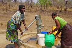 Thanks to their new clean water well, women no longer have to walk miles to get dirty water! #W282