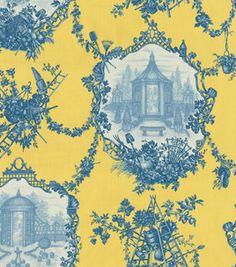 Home Decor Print Fabric-Braemore Garden Toile Yellow