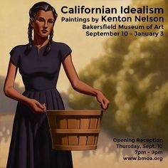 My show at the #bakersfieldmuseumofart. Opening tomorrow night. #oilpaintings #kentonnelson