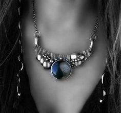 The Balance Petrified Wood Yin Yang Sterling Silver Necklace