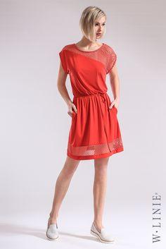 Červená je barva vášně, proto tyto šaty nesmí chybět v šatníku vášnivé ženy. http://www.wlinie.cz/e-store-produkt-kod-5711089 #wlinie #fashion #summer #newarrivals #newcollection #móda #style #limitededition #czechmade #handmade #šaty