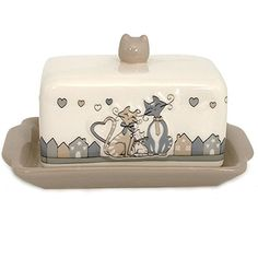 Cats in Love butter dish Funny Pets
