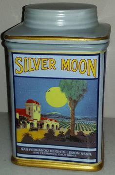 Silver Moon San Fernando Heights Oneida Vintage Label Stoneware Cookie Jar  #ONEIDA