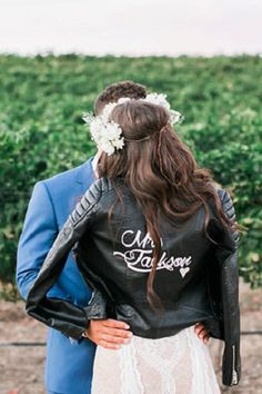 Wedding Online - Shopping - 13 ways to wear a leather jacket on your wedding day