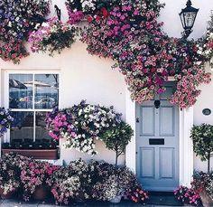 Flowered entrance