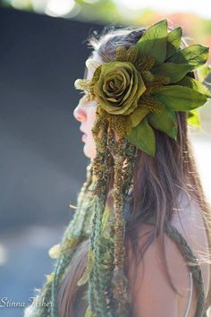 Forest Fairy Headdress by RadhasLoveDesigns777 on Etsy
