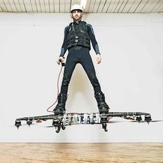 """Finally, A Hoverboard That Actually Flies!!! One of 10 innovations to win a 2016 Invention Award! """"Most people imagine a future with hoverboards in them,"""" says Duru, a software engineer, who has devoted the past five years to perfecting his hoverboard design, called Omni."""