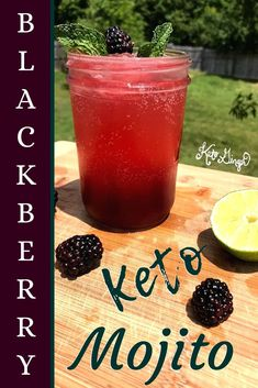 Summer is mojito season. Infused with blackberry and mint, our Keto Mojito is thirst-quenching, refreshing & tasty without the carbs! #keto #mojito #blackberry #lowcarb
