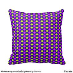 Abstract square colorful pattern throw pillows