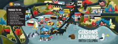 Map of Gibsons BC — Jana Curll Illustration