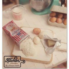 Set bag of flour 1/12 scale