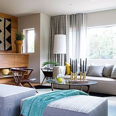 hang curtains from very top of wall? Turn up the heat - Smart Ideas from a Stunning Mid-Century Modern Remodel - Sunset