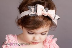 Dupioni Silk BOW Headband or Clip  Vintage Baby by HeavenlyAvonlee, $15.99