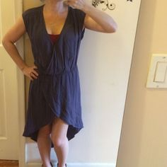 """Lush purple asymmetrical dress BNWT Just like the name suggests. Lush Abd plush. Made of 100% rayon. Bust: -9"""". Elastic waist:  13.5"""" hips: 19"""". V neck: 9.5"""" seen shit. Wear a feminine bra and sex it up. Lol. Shoulder 5.5"""". Shoulder to bottom: 25"""" shortest. Back: 22"""" longer in back. Plus free gift fir all my buyers as a thank you. Lush Dresses Asymmetrical"""