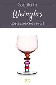 Ausgefallenes Design und großzügige Formgestaltung machen die 2 die Weingläser aus der Sagaform Glas-Serie Spectra  zu besonderen Gläsern, die den Tisch verschönern und den Genuss vergrößern.