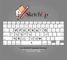 KeyBoard Shortcuts on SketchUp Autocad, Graphic Design Tips, Tool Design, Web Design, Adobe Illustrator Tutorials, Photoshop Illustrator, Google Sketchup, Material Didático, Architecture Student