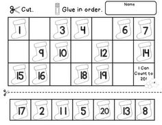 best numeros images  preschool worksheets preschool math calculus christmas count to  includes  math center activities and worksheets to  reinforce counting and number