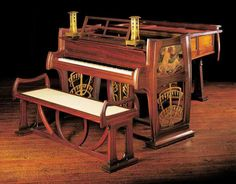¤ Art Nouveau piano by Gustave Serrurier Bovy. Gustave Serrurier-Bovy est un…