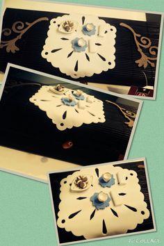 Scatola porta bustine di tè in bambù decorata da me con fommy e fantasia