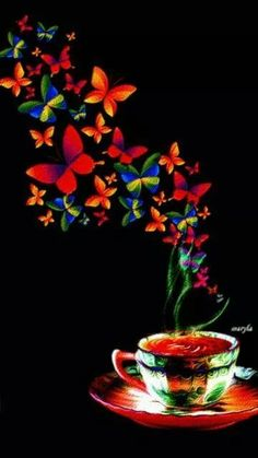 The perfect GoodMorning Butterfly Coffee Animated GIF for your conversation. Discover and Share the best GIFs on Tenor.