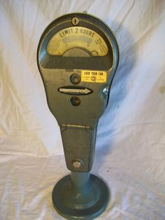 1960's ParkOMeter/ we used to race to see who would  put the pennies in first!