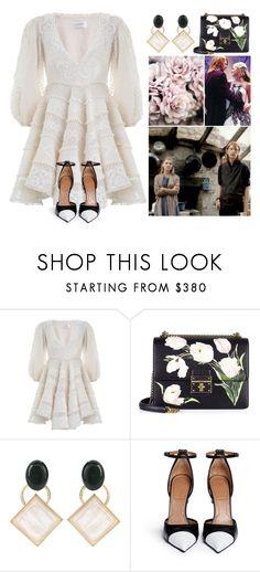 """Harry Potter Weddings #5 Bill & Fleur"" by leah1992 ❤ liked on Polyvore featuring Zimmermann, Dolce&Gabbana, Marni, Givenchy, wedding, fleurdelacour, billweasley and billfleur"