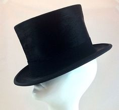 Gentleman's Antique French Silk Black Top Hat by A. Casse Paris Circa 1920's #ACasse #TopHat #Formal
