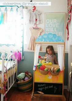 ohdeardrea: Maximizing Kids Toys: Creating A Kids DIY Veggie Stand From With A Puppet Theatre & Other Useful Things To Do With Magical Putty
