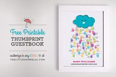 Free Printable Friday: Baby Shower Thumbprint Guestbook | The Little Umbrella
