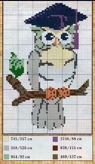 natty's cross stitch corner: Owl