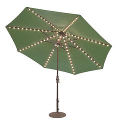 Umbrella with built-in LED lighting  at Backyard Living Pools