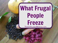 What Frugal People Freeze:  Did you know you can freeze cheese?  Take a look at all of the things that frugal people have in their freezer!
