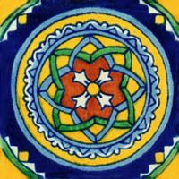 Spanish Mexican Tile for decorating bathroom, shower and counter by Rustica House #myrustica