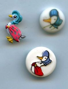Mother Goose buttons nursery rhyme plastic, brass buttons $7.00