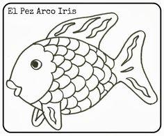 El peix irisat Kindergarten Morning Work, Kindergarten Art, Bird Embroidery, Rainbow Fish, Wood Burning Patterns, Animal Activities, Flower Doodles, Black And White Illustration, Christmas Nail Art