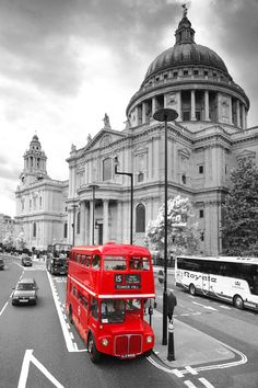 black and white london city photos | Color on Black and White Canvas