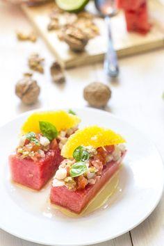 ensalada de sandía y bacalao